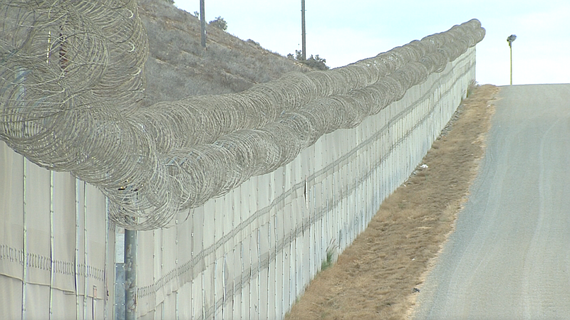 The border fence between San Diego and Tijuana is pictured, Sept. 19, 2016.