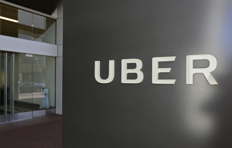 An exterior view of the headquarters of Uber in San Francisco, Wednesday, Mar...