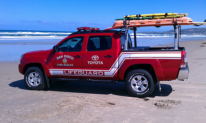 A Toyota lifeguard vehicle in an undated photo.