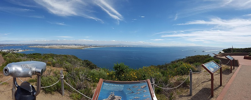 The photo shows the view from Cabrillo National Park, March 21, 2017.