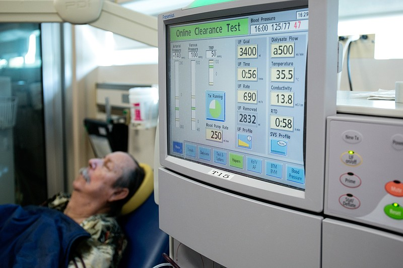 Kidney patient Steve Brown has been on dialysis at UCSD for nine years. March...