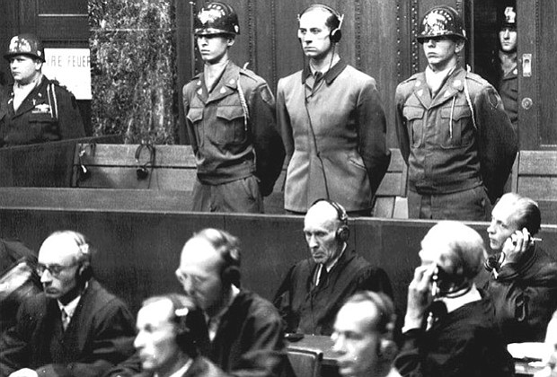 Nuremberg trial of Dr. Karl Brandt, Hitler's doctor and director of Nazi expe...