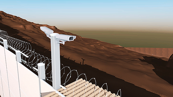The San Diego-based company vScenario created a 3D model of the existing bord...