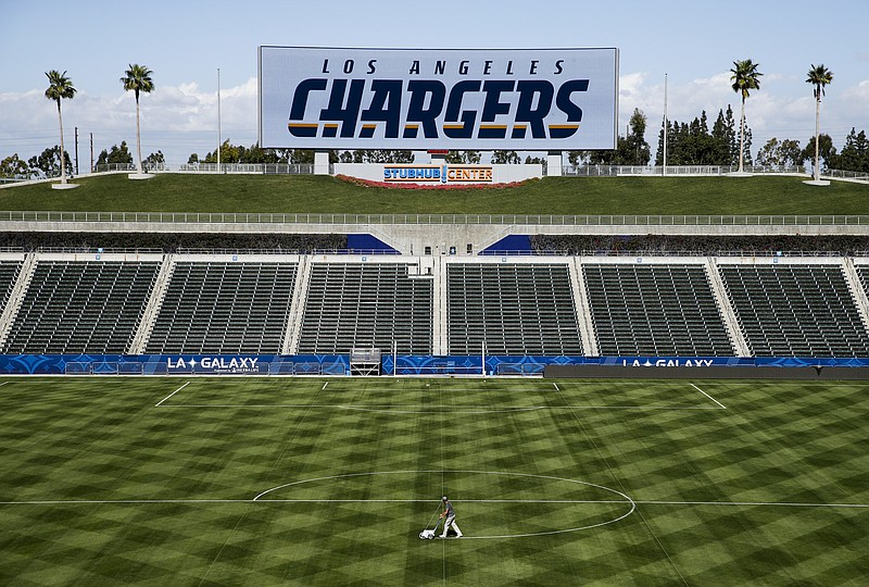 A general view of the StubHub Center is seen prior to a news conference to in...