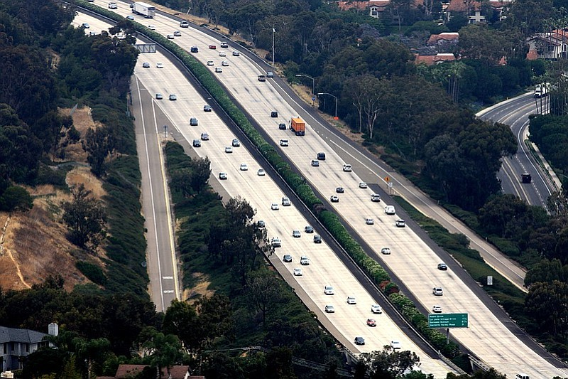 This undated photo shows the Interstate 5 freeway.