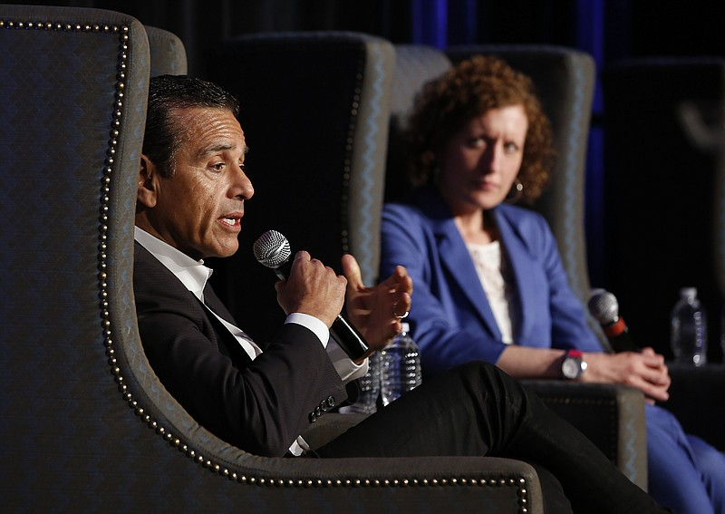 Former Los Angeles Mayor Antonio Villaraigosa, a candidate for California gov...