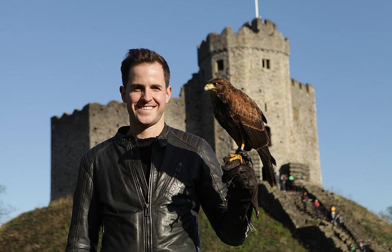 Historian and author Dan Jones visits Cardiff Castle in Wales, United Kingdom.