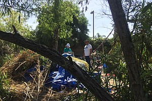 Volunteers Clean Up Large San Diego Homeless Camp