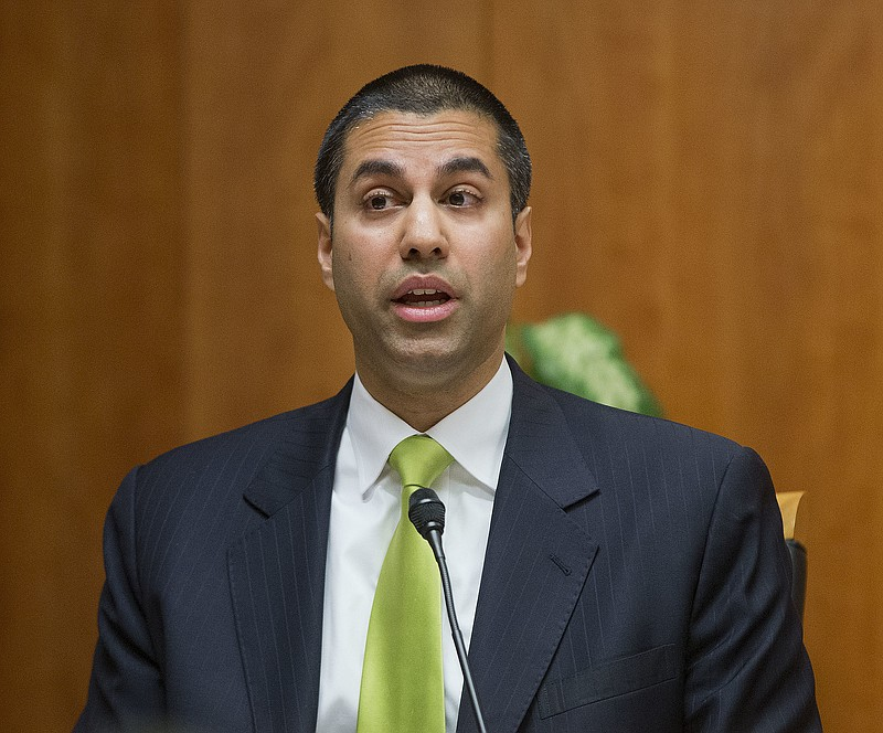 Federal Communications Commission Chairman Ajit Pai during a hearing on net n...