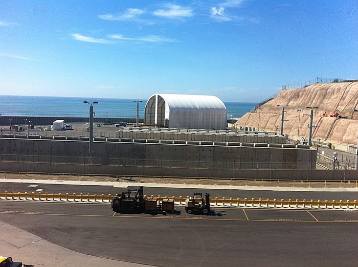 The San Onofre site where Southern California Edison is storing spent fuel ro...