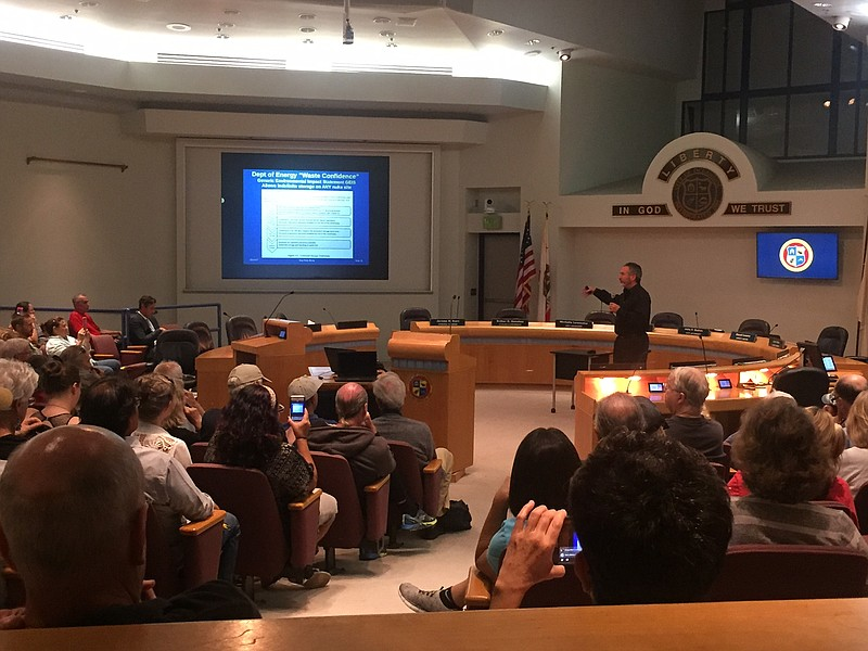 More than 100 people showed up to a public meeting at Oceanside City Hall on ...