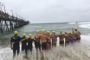 Swimmers Cross US-Mexico Border To Support Immigrants