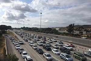 Drivers Encounter Rising Traffic Jams Crossing Border Int...