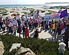 Activists Protest National GOP Meeting At Hotel Del Coronado