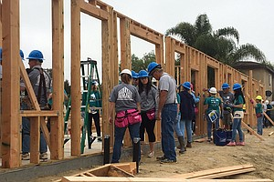 Women Volunteers Build Affordable Housing In Logan Heights