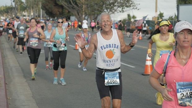 Richard Williams participates in the America's Finest City Half Marathon, San...