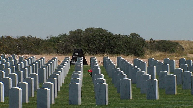 Headstones at Miramar National Cemetery in San Diego, May 19, 2017.