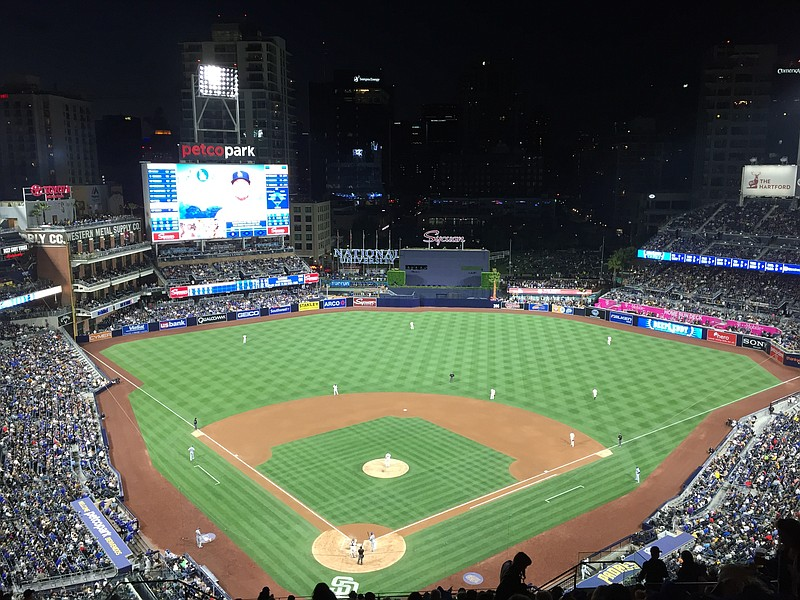 People fill Petco as the Padres play the Dodgers, May 21, 2016.