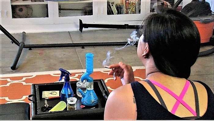 A San Diego woman, who does not want to be identified because she smokes mari...