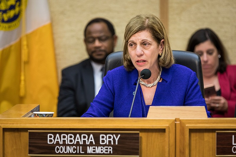 San Diego City Councilwoman Barbara Bry speaks during a council meeting, Dec....