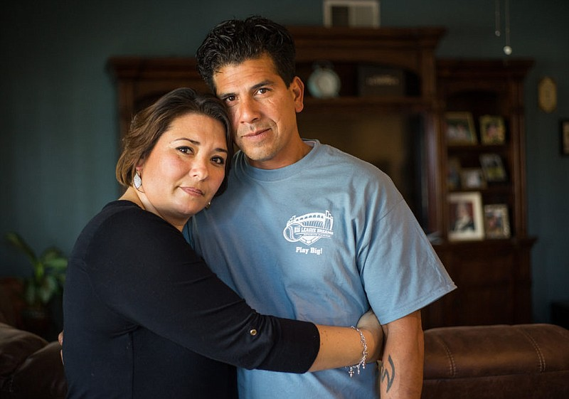 Melissa Pineda and David Pineda pose in this undated photo.