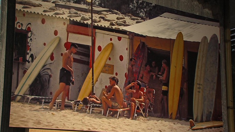 A photo of China Beach on display at the California Surf Museum in this undat...