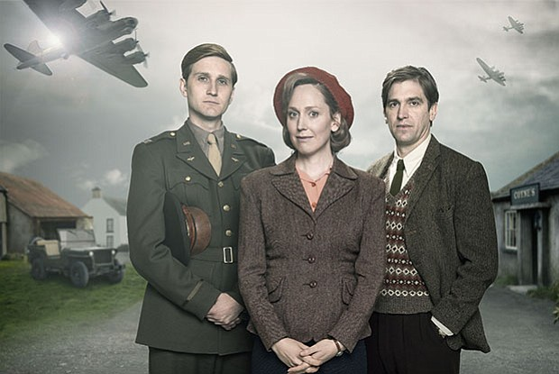 Shown from left to right: Captain Ronald Dreyfuss (AARON STATON), Rose Coyne ...