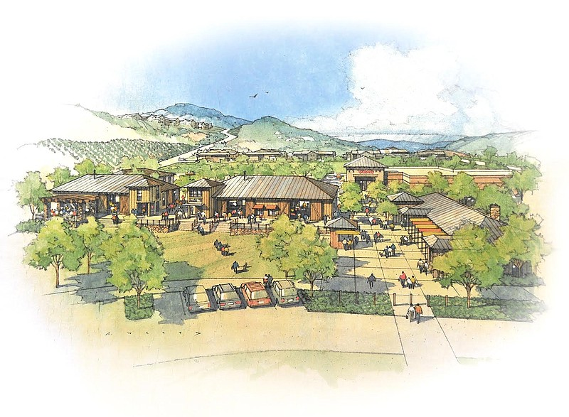 A rendering of the proposed Newland Sierra development in San Marcos.