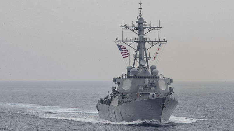 The destroyer USS Fitzgerald, seen sailing in the Sea of Japan earlier this m...