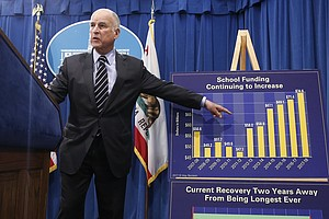 Photo for  California Governor Touts Turnaround In His Final Budget