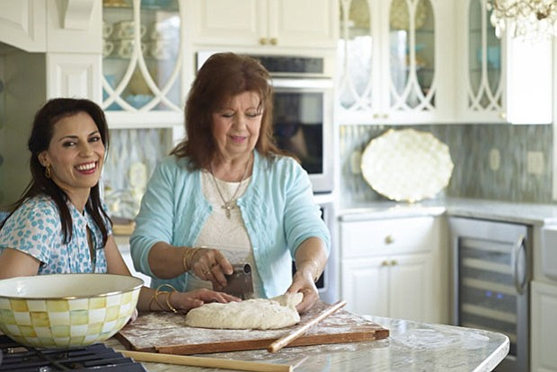 Pictured: Julie Taboulie and Mama. In JULIE TABOULIE'S LEBANESE KITCHEN, chef...