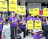 San Diego Airport Janitors Threaten To Strike During July Travel Se...