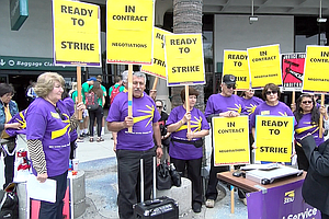 San Diego Airport Janitors Threaten To Strike During July Travel Season