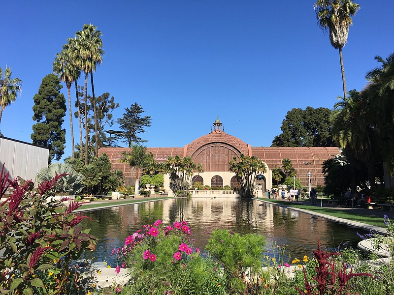 The Balboa Park Botanical Building and Lily Pond are shown in this photo, Nov...