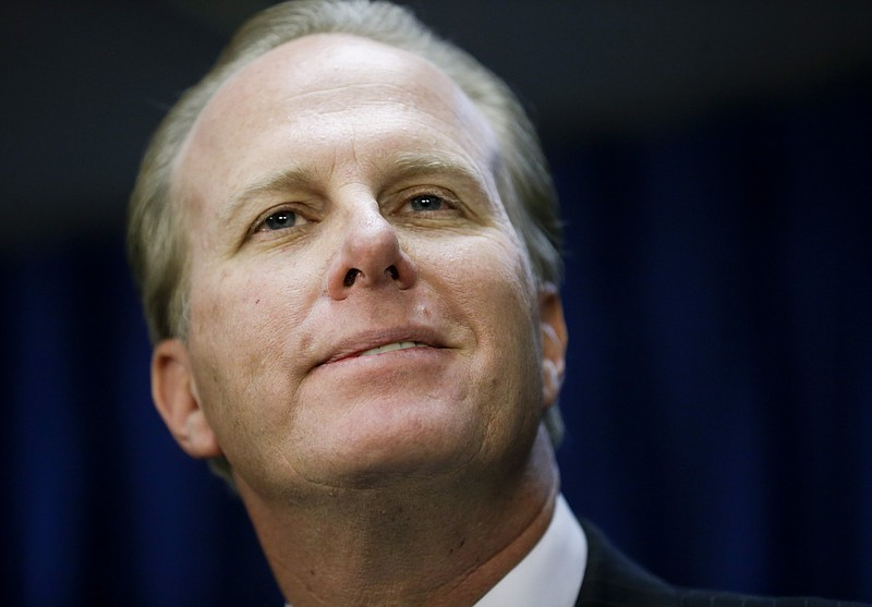 San Diego Mayor Kevin Faulconer speaks during a news conference about the cit...