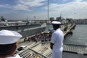 USS Gabrielle Giffords Arrives In San Diego