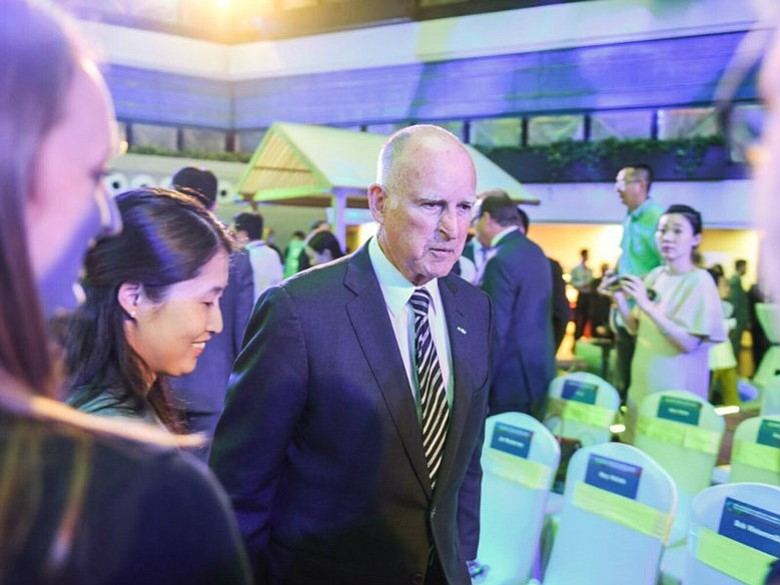 Gov. Brown is pictured in Beijing, China in this undated photo.