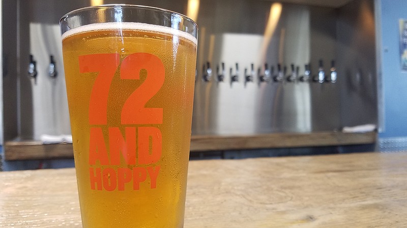The Bay City brewing Co. 72 and Hoppy beer, July 11, 2017.