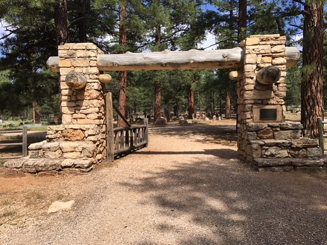 The Pioneer Cemetery, which is closed to new burials but still open to visito...