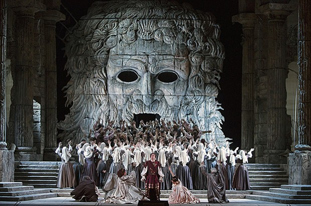 "A scene from Mozart's ""Idomeneo."" Music Director Emeritus James Levine conduc..."