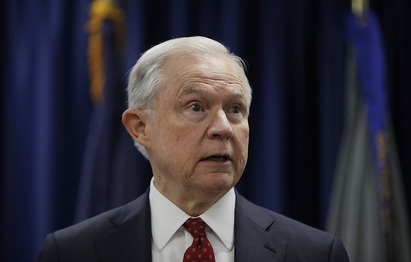 Attorney General Jeff Sessions speaks at the U.S. Attorney's Office in Philad...