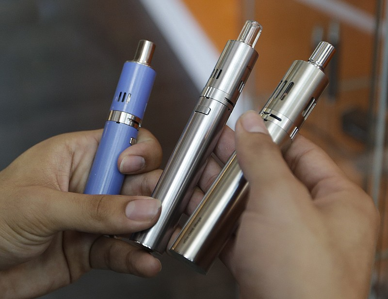 A variety of e-cigarettes, July 7, 2015.