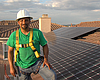 Phil Salas, project manager for the solar panel...
