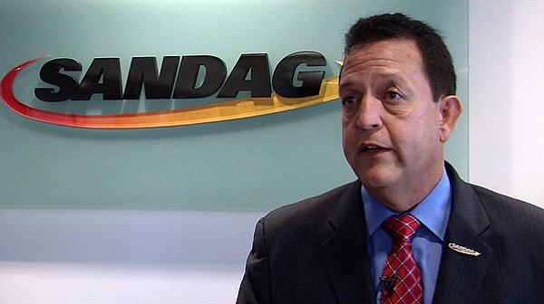 SANDAG Executive Director Gary Gallegos speaks at the agency's downtown San D...