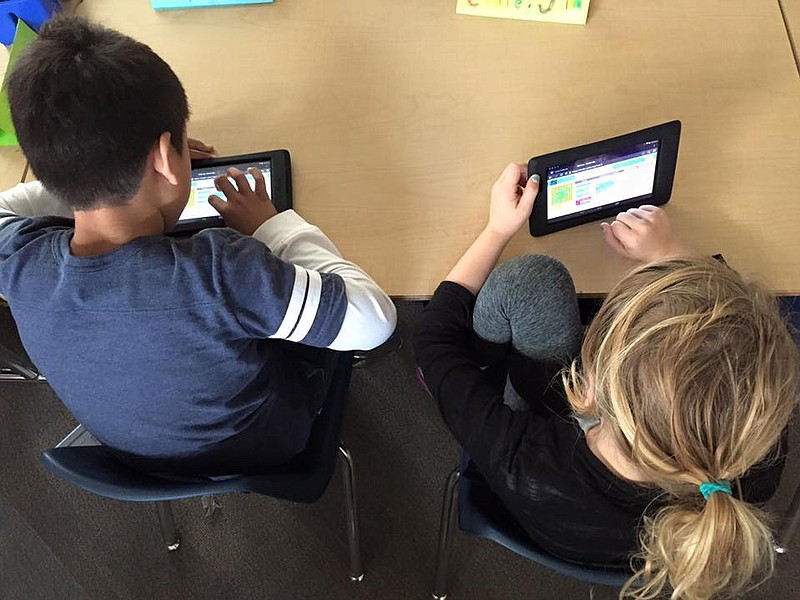 San Diego Unified School District students take part in an Hour of Code in 20...