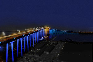 Design To Illuminate Coronado Bridge Gets Port Of San Diego Approval