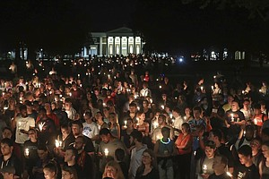 Thousands March With Candlelight At Charlottesville Vigil