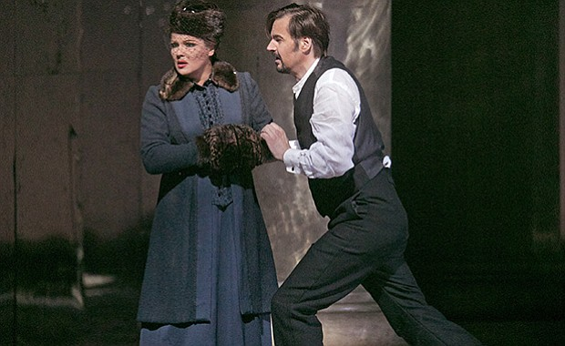 Anna Netrebko as Tatiana and Peter Mattei as Onegin in Tchaikovsky's