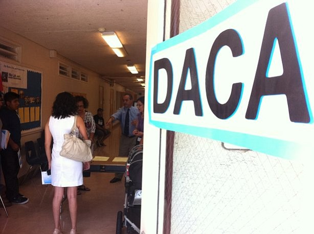 A DACA sign is shown in this undated photo.
