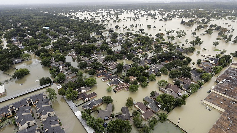 This view of Tropical Storm Harvey flooding in Houston on Tuesday shows why e...